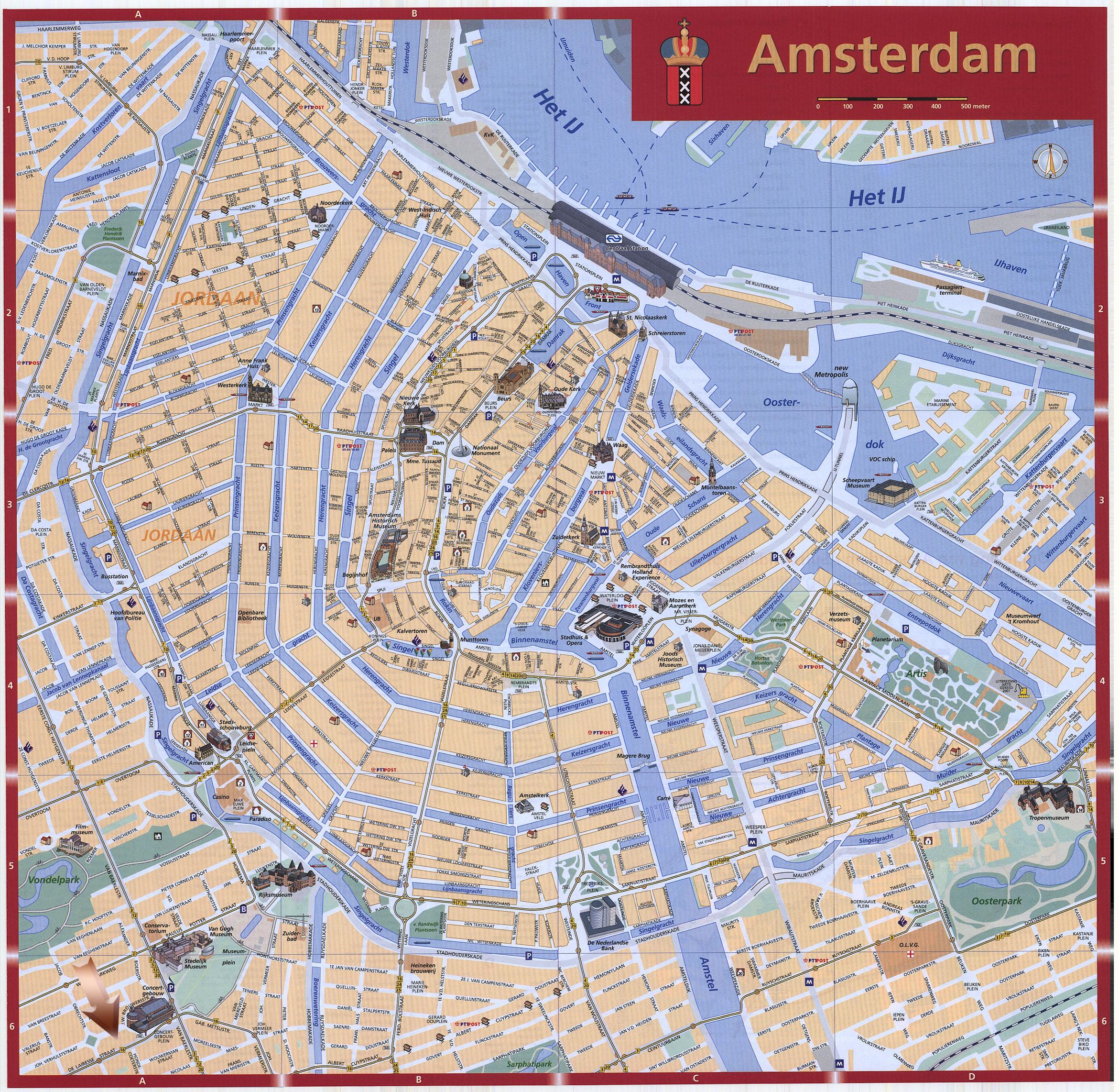 mapa turistico de amesterdao mapa metro París, mapa metro Londres, mapa metro Roma, mapa  mapa turistico de amesterdao